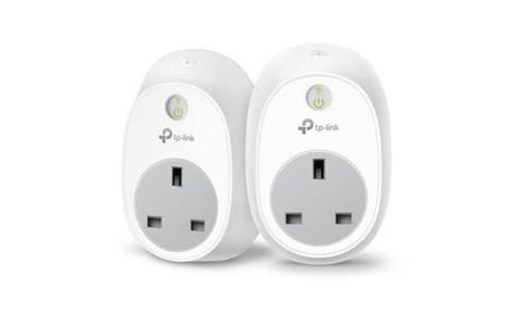 TP-Link Kasa Wi-Fi Smart Plug with Amazon & Google Voice Control - 2 Pack