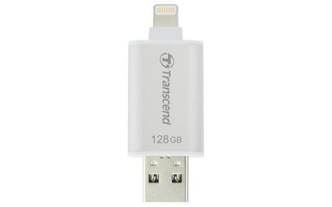 Transcend 128GB JetDrive Go 300 USB drive for iOS Device - Silver