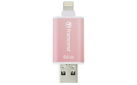 Transcend 64GB JetDrive Go 300 USB Flash Drive for iOS Device - Rose