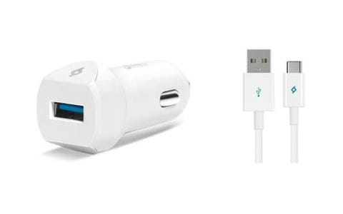 TTEC USB Car Charger including USB-C Cable