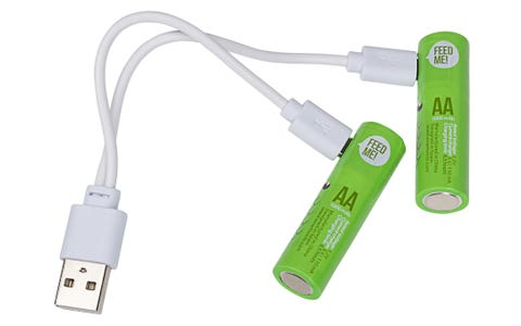 UNI-COM USB Rechargeable AA Ni-MH Batteries 4 Pack inc Micro USB Cable 1000mAh