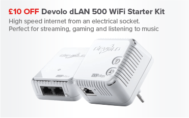 £10 OFF Devolo dLAN 500 WiFi Started Kit
