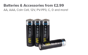 Batteries and Accessories from £2.99