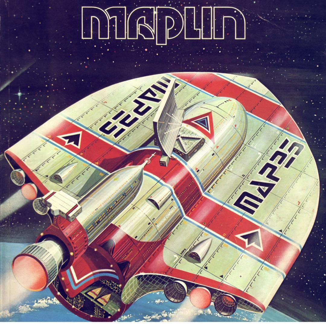 Old retro Maplin catalogue cover with spaceship