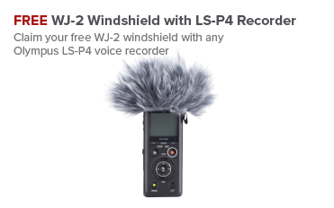 Free WJ-2 Windshield with LS-P4 Recorder - Olympus