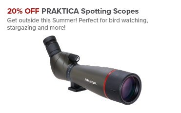 20% OFF PRAKTICA Spotting Scopes
