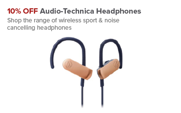 10% OFF Selected Audio-Technica Headphones at Maplin