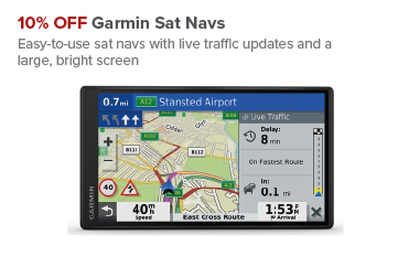 10% OFF Garmin Sat Navs at Maplin