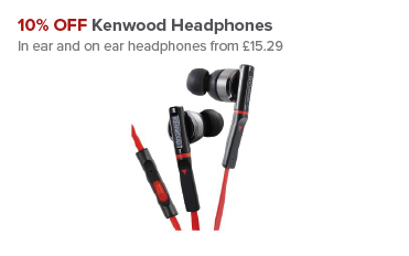 10% OFF Kenwood Headphones at Maplin