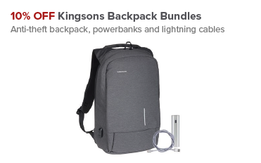 10% OFF Kingsons Backpack Bundles at Maplin